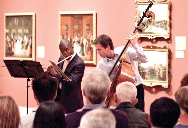 Art of Elan Musicians playing at the San Diego Museum of Art