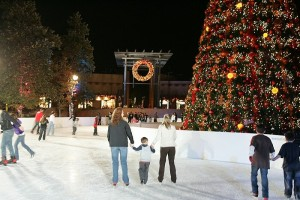 Ice Skaters at the Viejas Outlet Center in San Diego's East County