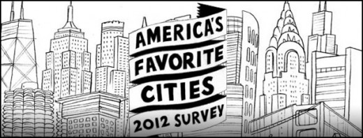 Travel + Leisure America's Favorite Cities survey 2012