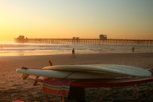 San Diego Surfboards at Sunset