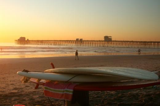 Sunset at Oceanside Pier.