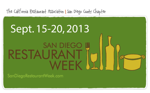 San Diego Restaurant Week - September 2013