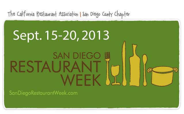 San Diego Restaurant Week - September 2013