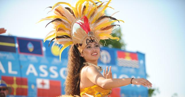 Pacific Islander Festival Dancer