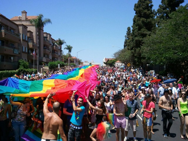 Rainbow Flag at the San Diego Pride Parade