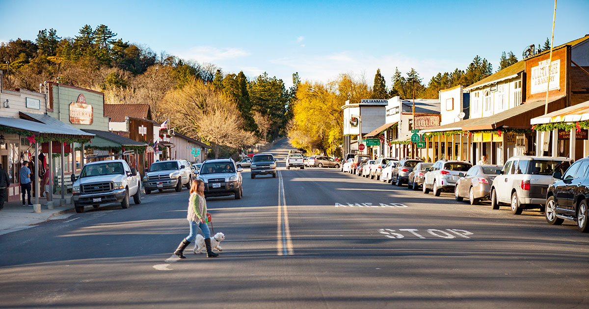 Main Street in Julian, California