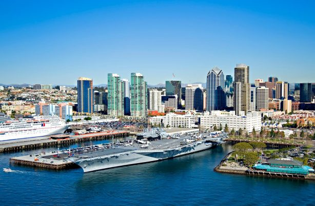 San Diego Skyline and the USS Midway - Top Things to Do