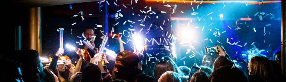 People Dancing at Omnia Nightclub - Spring Break in San Diego