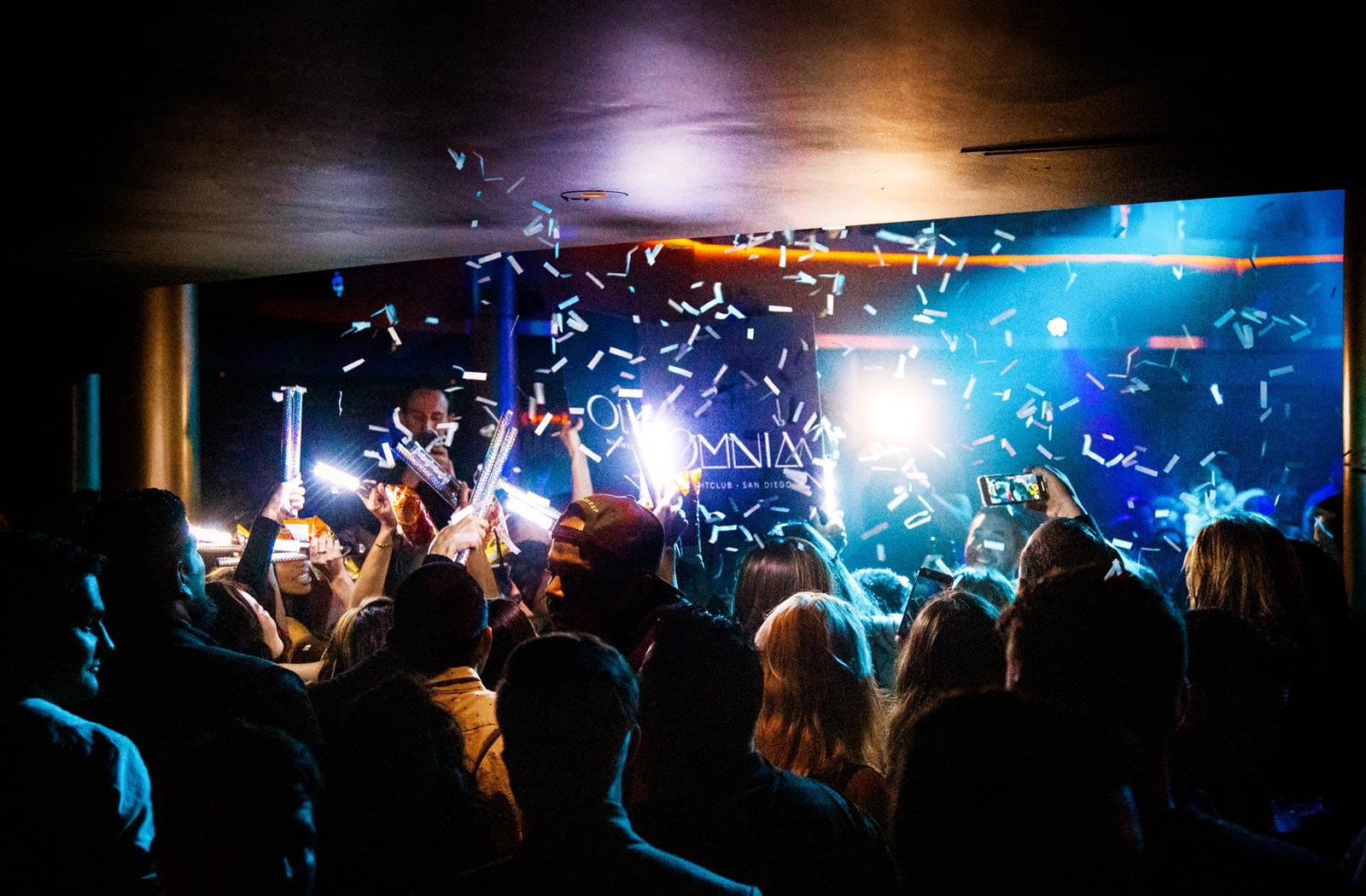 People Dancing at Omnia Nightclub - Spring Break in San Diego