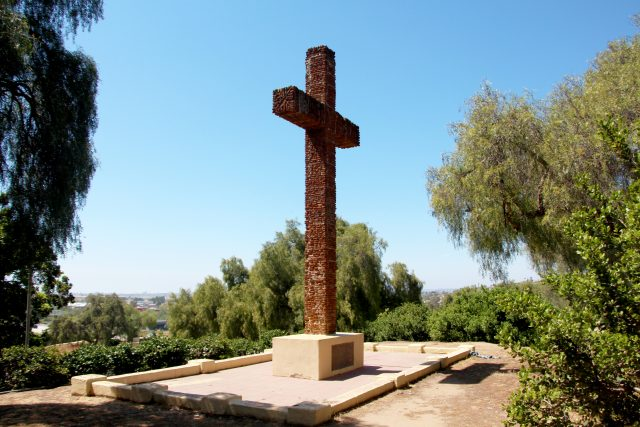 Serra Cross on Presidio Hill in Old Town San Diego State Historic Park
