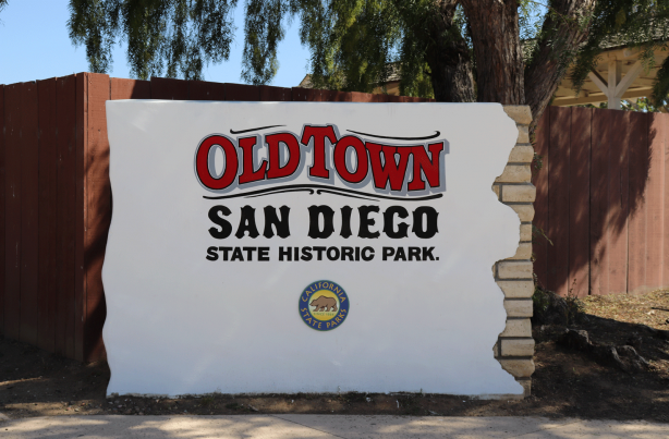 Old Town State Historic Park Sign