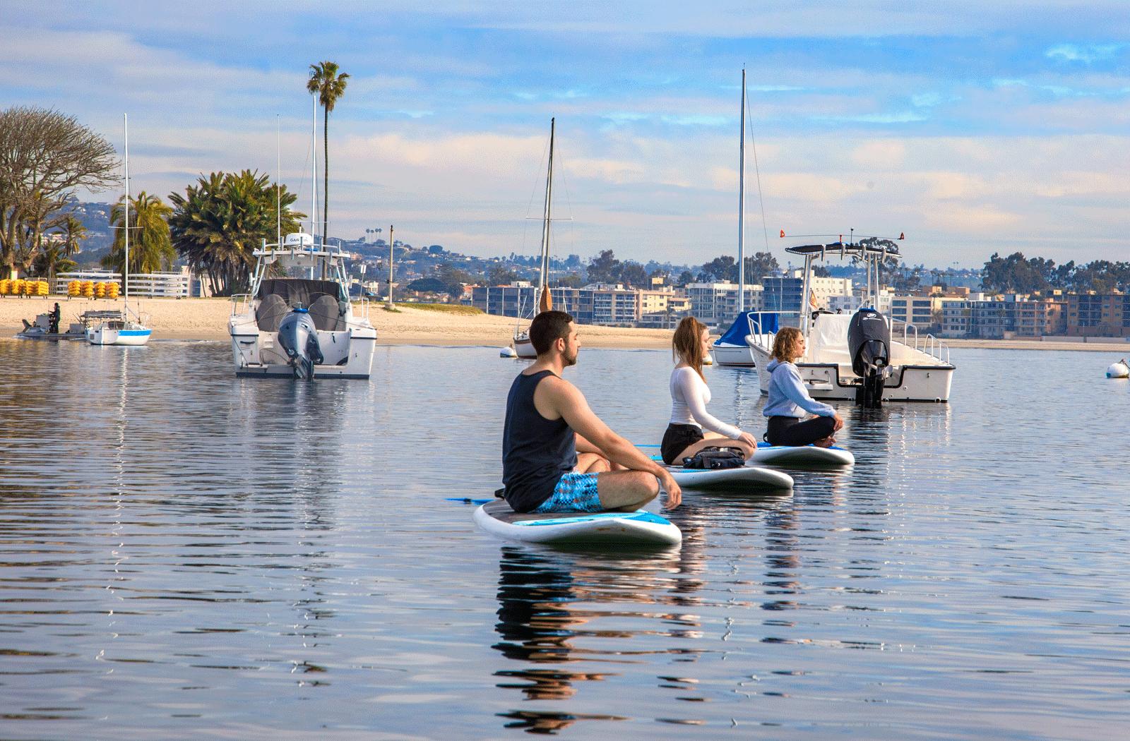 yoga on Mission Bay