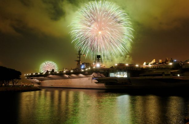 Fireworks over the USS Midway Museum - Top Things to Do in San Diego