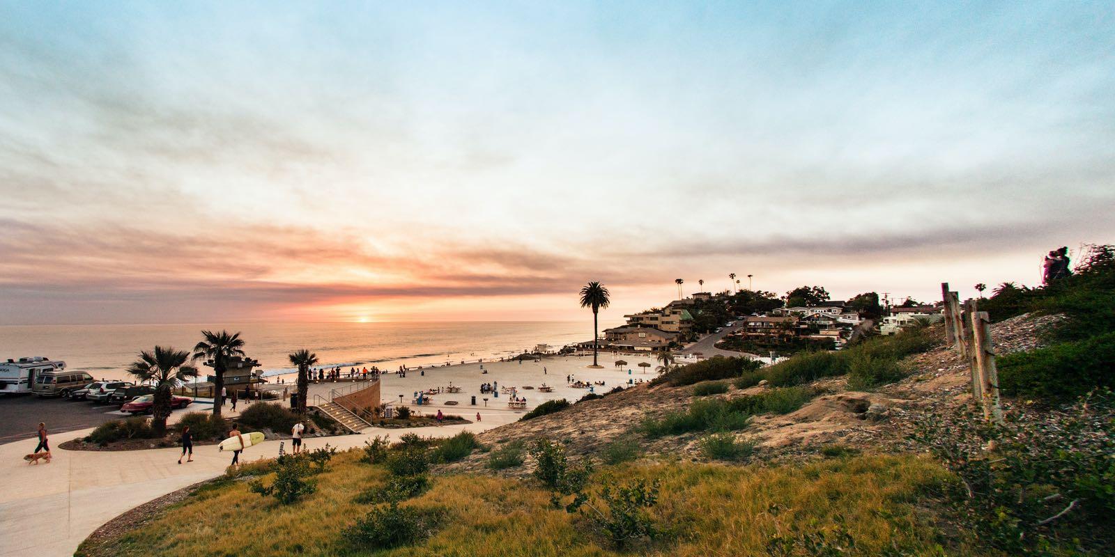 Enjoy some coastal distancing at North Coastal Moonlight Beach in Encinitas