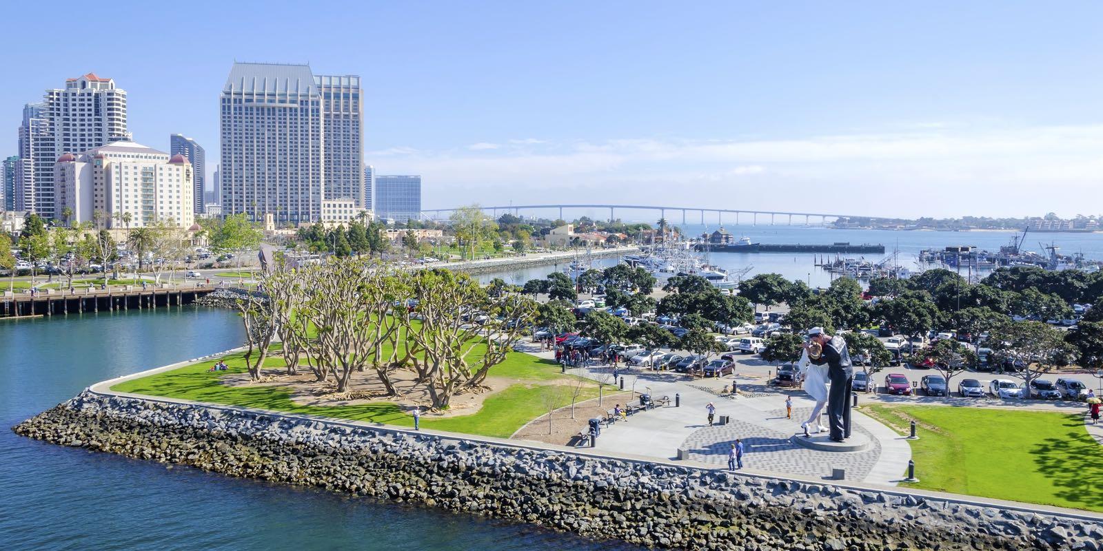 Tuna Harbor Park along the San Diego Embarcadero