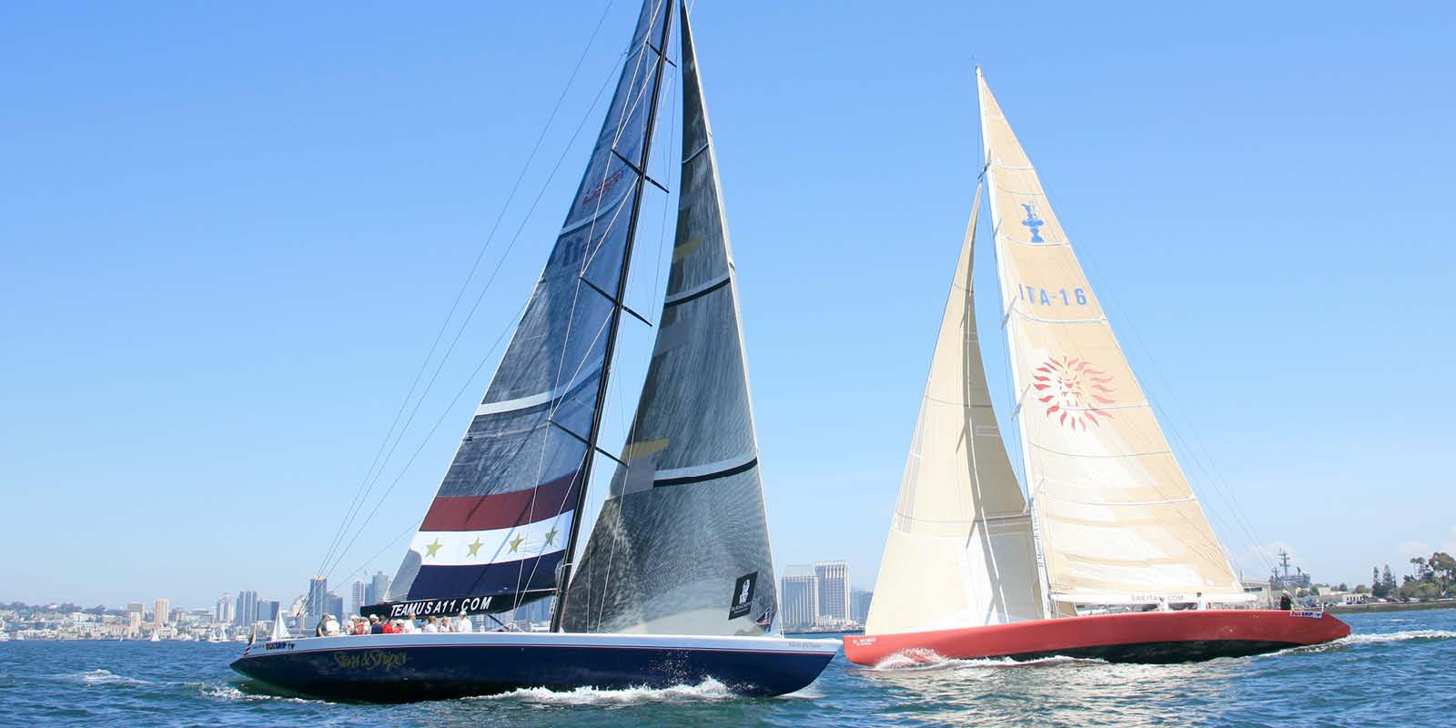 Sailboats on San Diego Bay